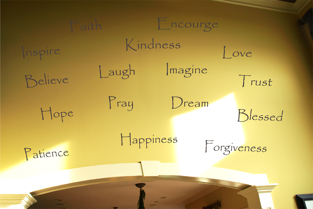 Inspiring Papyrus Words Wall Decal