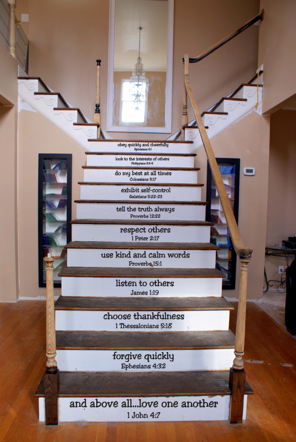 Give Generously Stair Decals