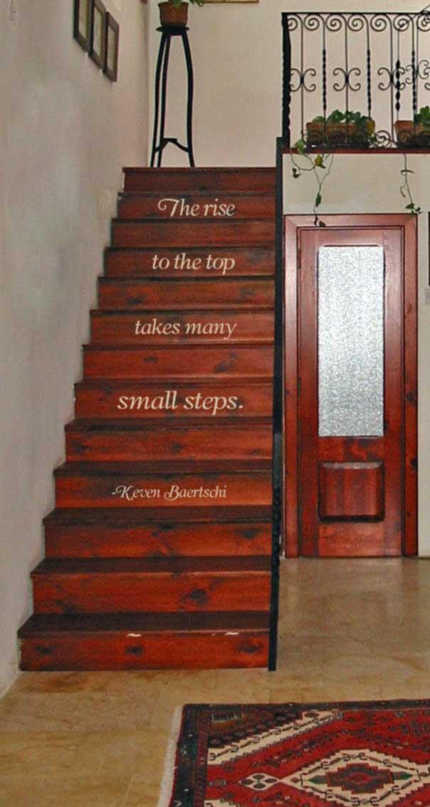 Many Small Steps Wall Decal