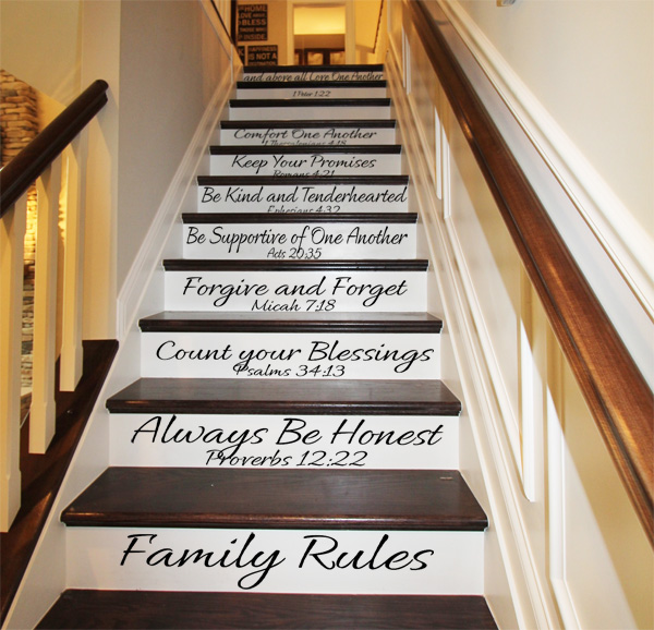 Family Rules Stair Decals2
