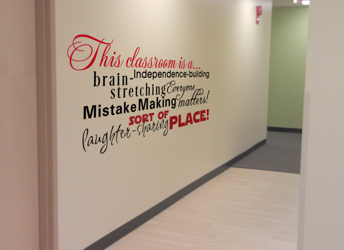 Subway Classroom Wall Decal