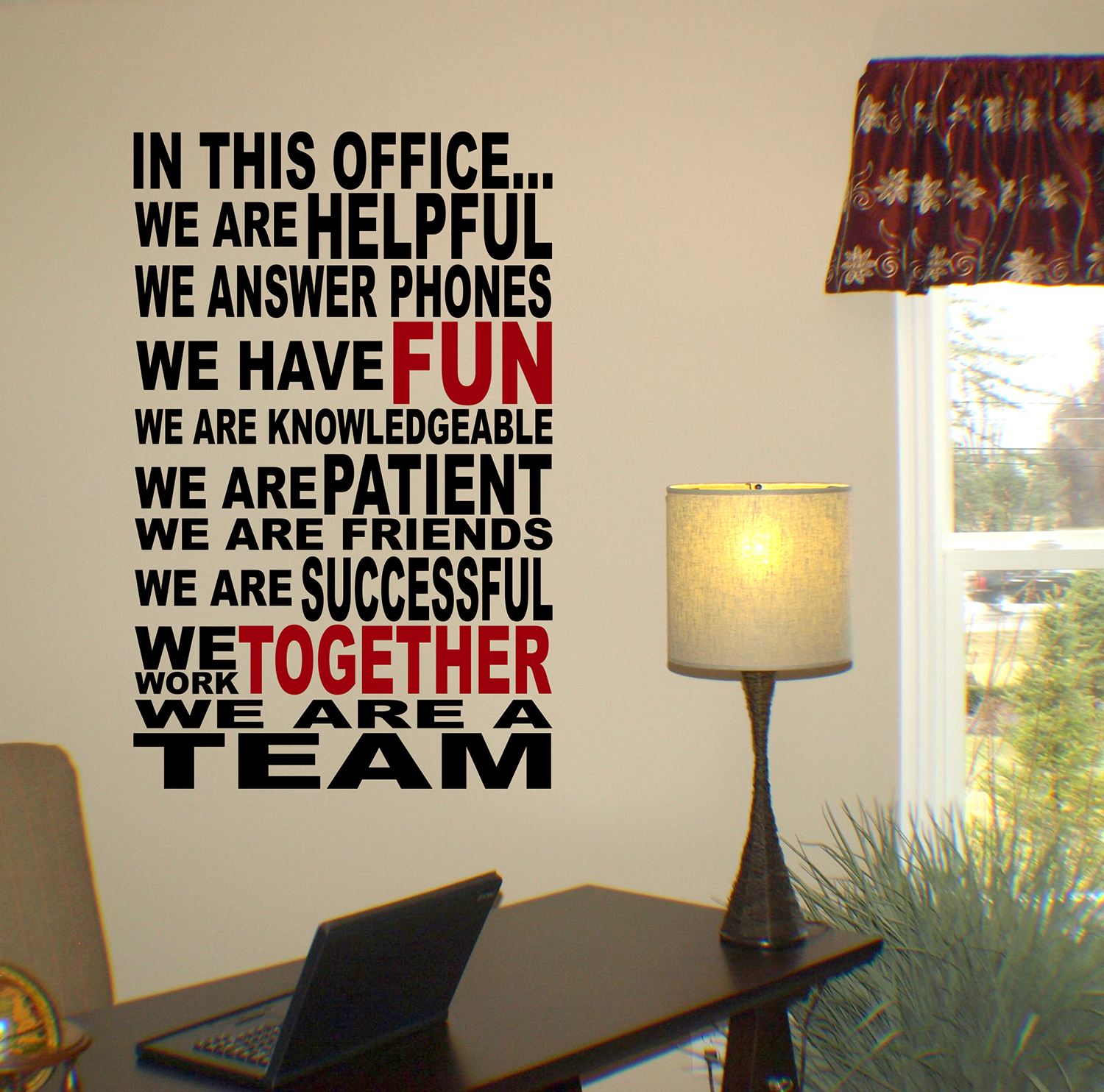 We Are A Team Wall Decal Trading Phrases
