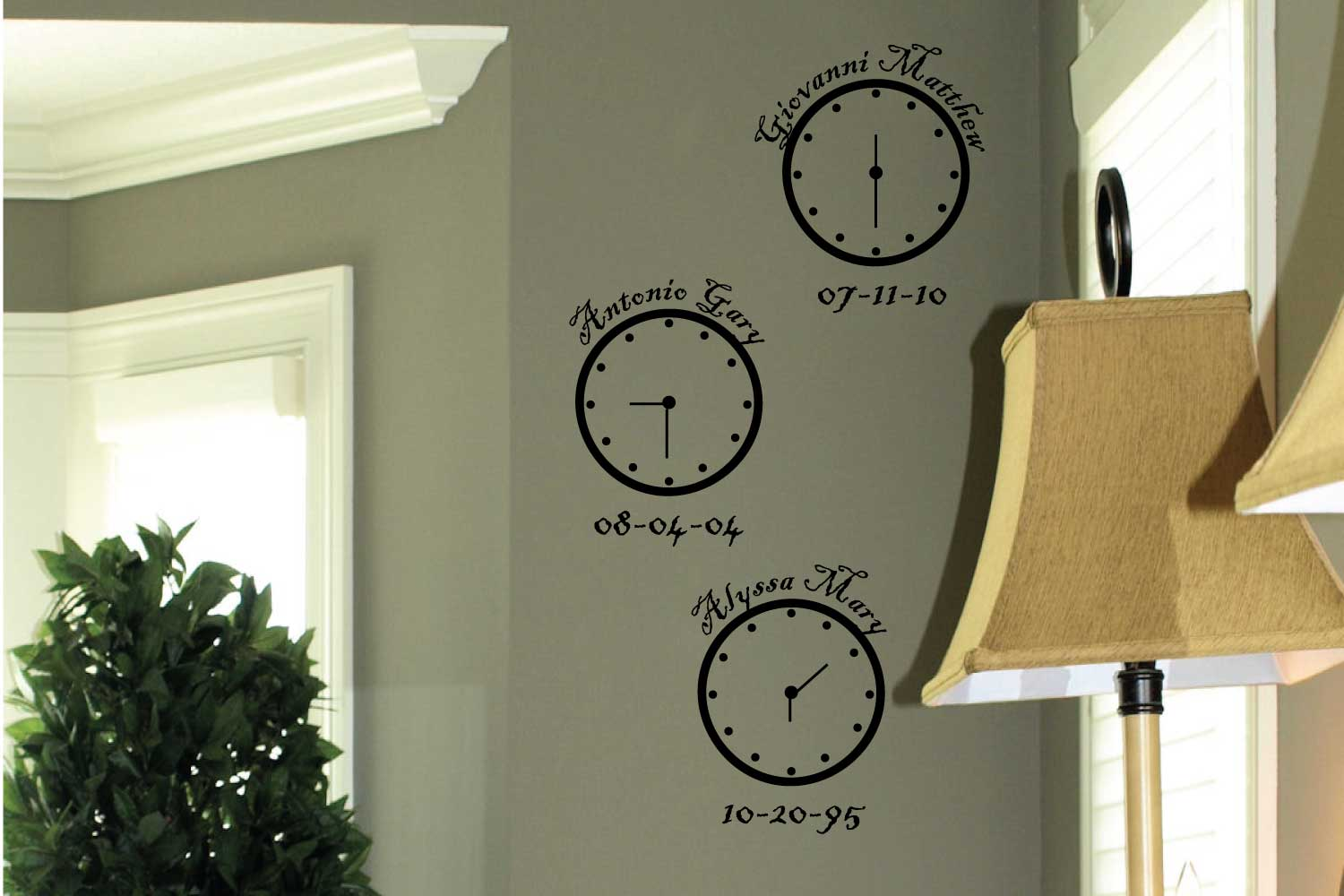 Personalized Clocks Wall Decals