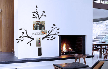 Family Photo Tree 7 With Leaves Wall Decal