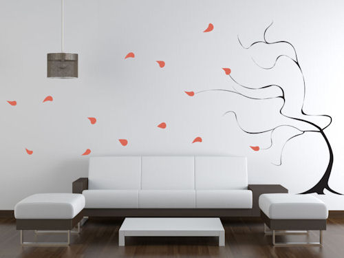 Windy Tree Giant Wall Decal