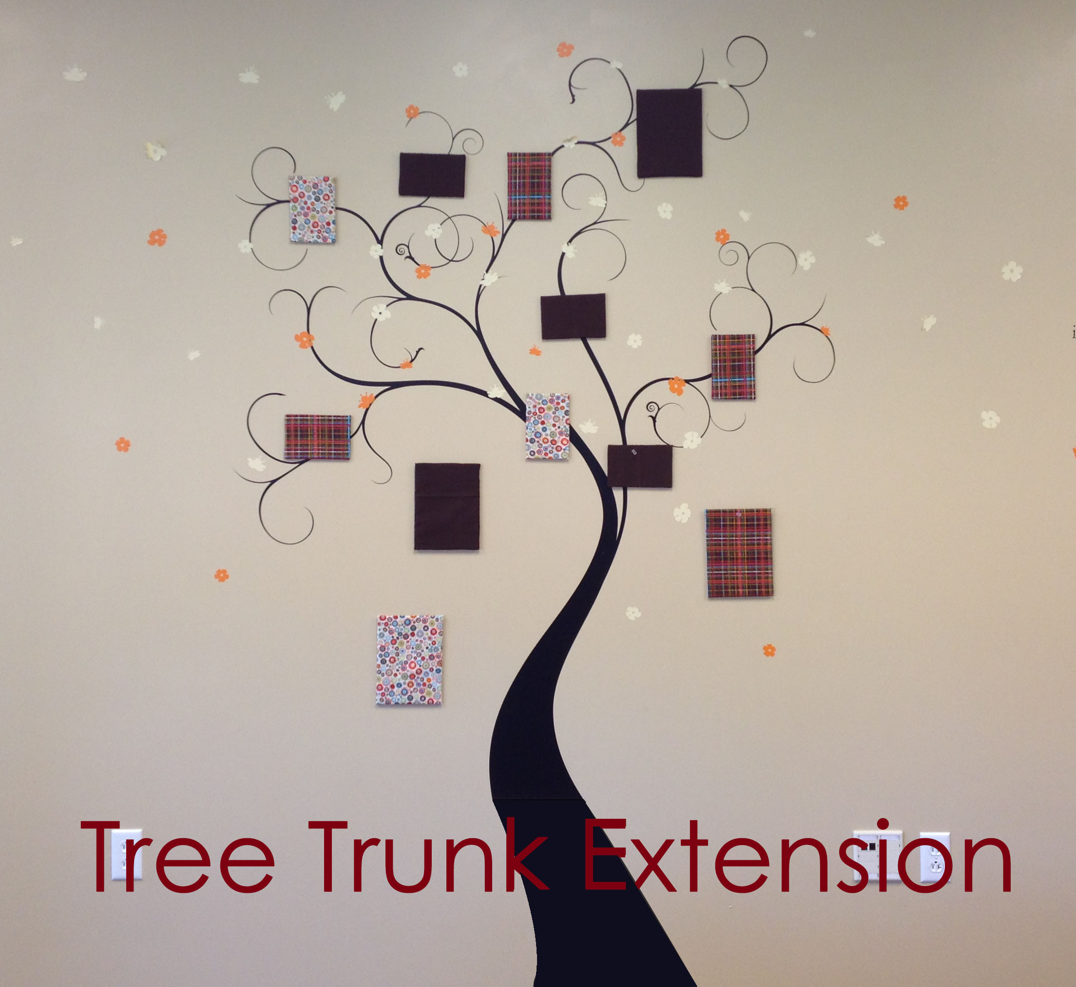 Blossom Tree Trunk Extension Wall Decal