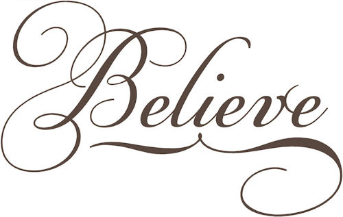 Simply Words | Believe | Wall Decals