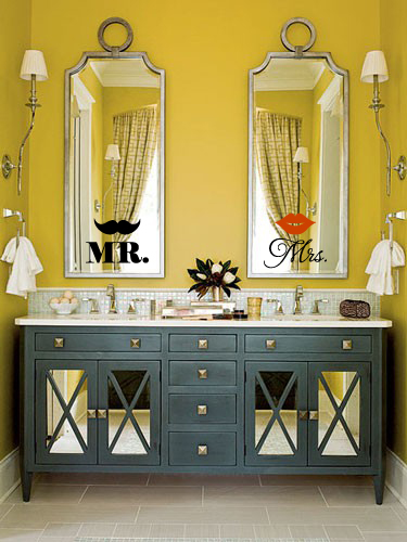 Mr and Mrs Lips Wall Decal