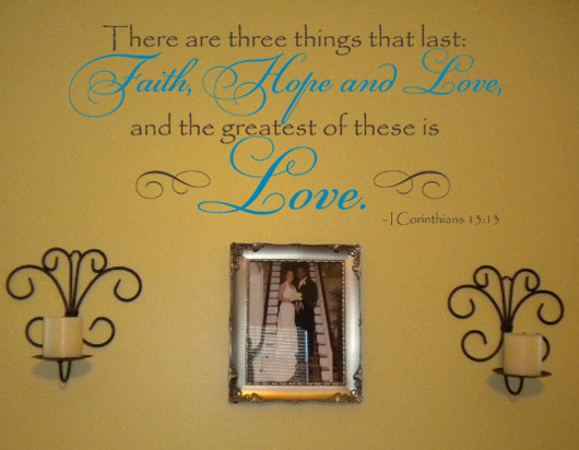 Corinthians Love | Wall Decals - Trading Phrases