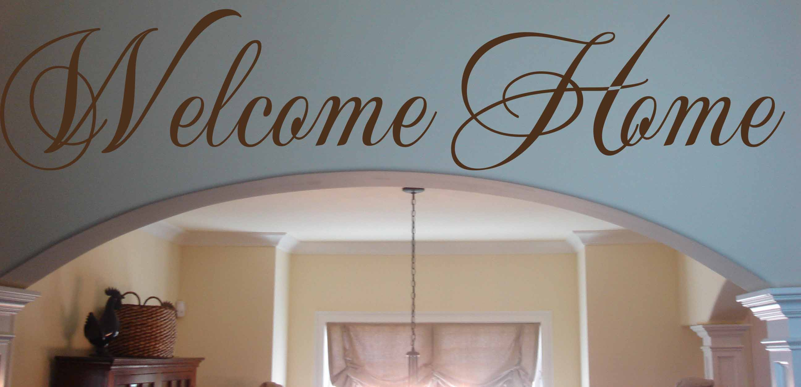 Script Welcome Home Wall Decal