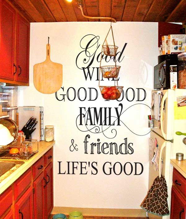 Good Wine Good Food Decal