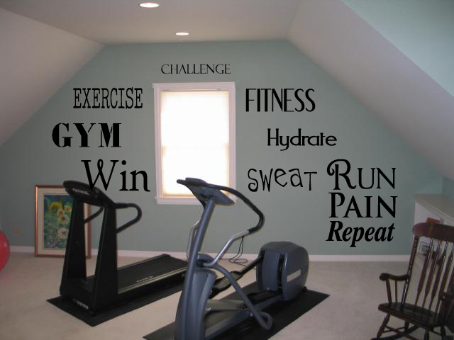Fitness & Exercise Word Pack LARGE Wall Decal