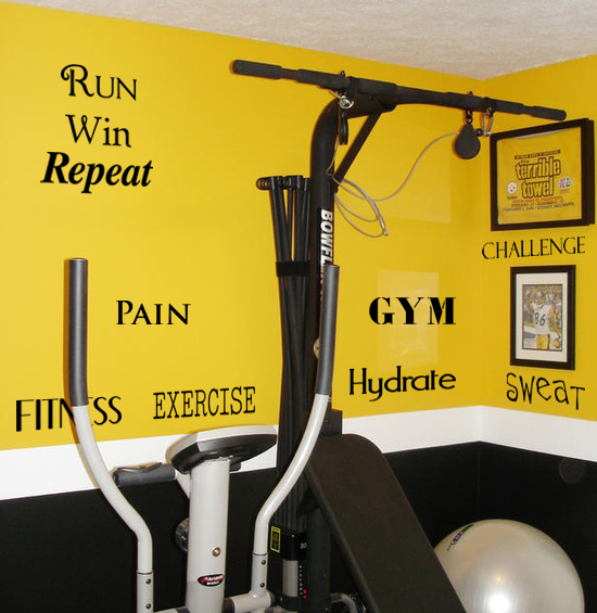 Fitness & Exercise Word Pack Wall Decal