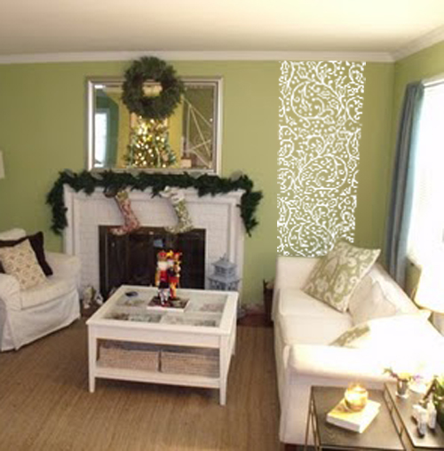 Christmas Holly Wall Runner