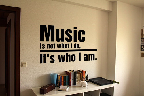 Music... Who I Am Wall Decal