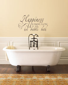 Happiness Bubble Bath Wall Decal