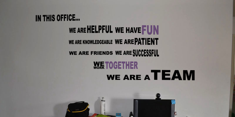 In This Office Wall Decal