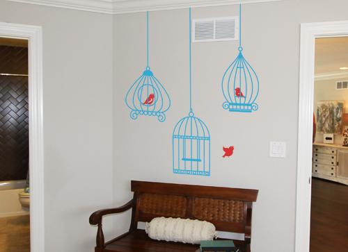 Birdcage Bird Wall Decal