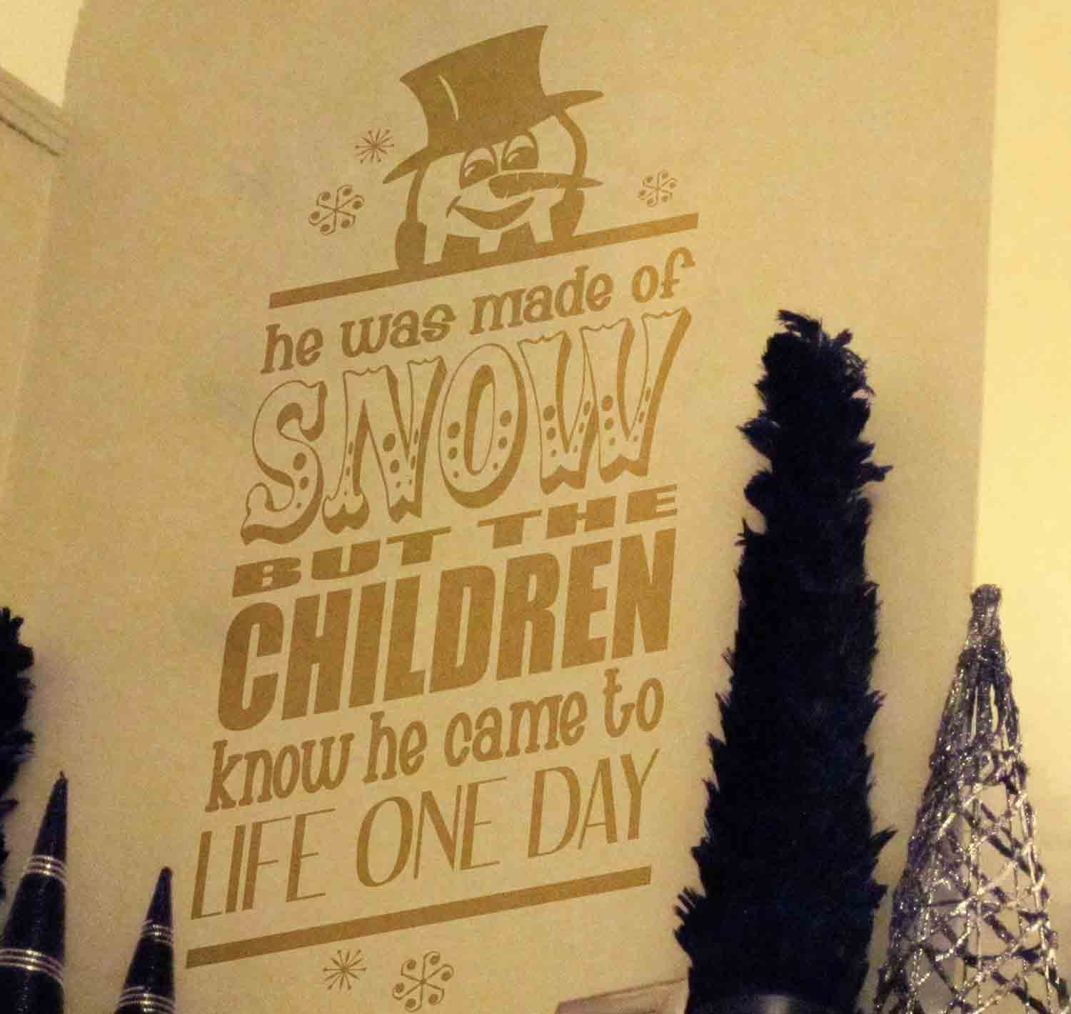 Frosty Wall Decal