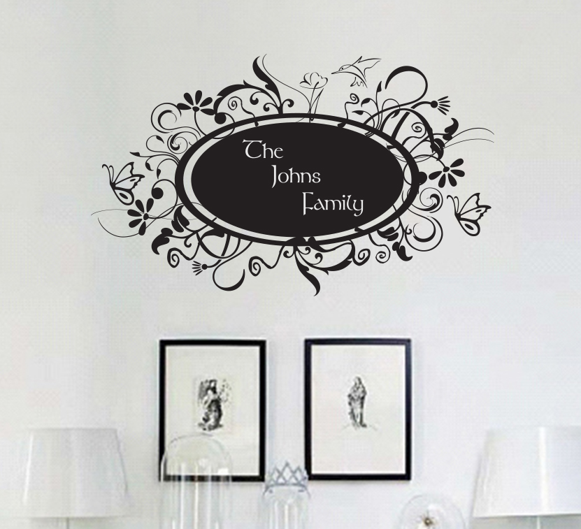 Family Name Fun Frame Wall Decal