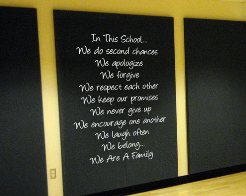 In This School Education Wall Decal