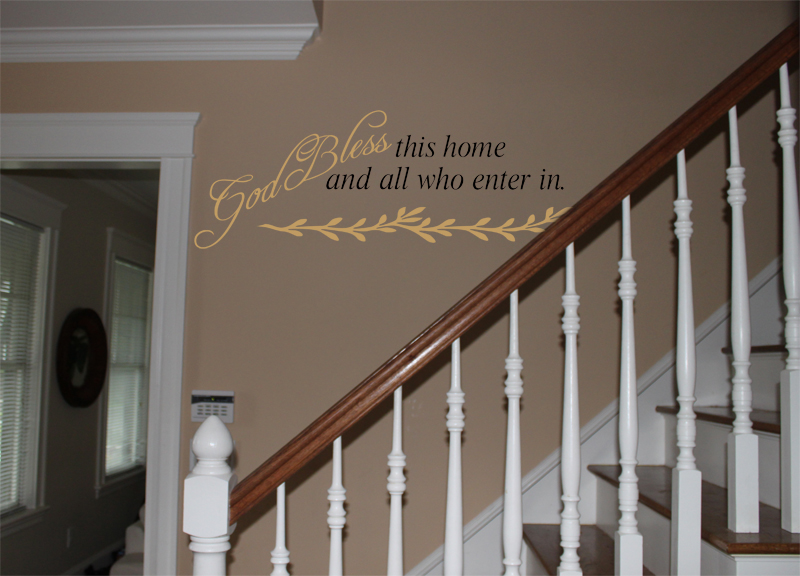 God Bless This Home Wall Decals