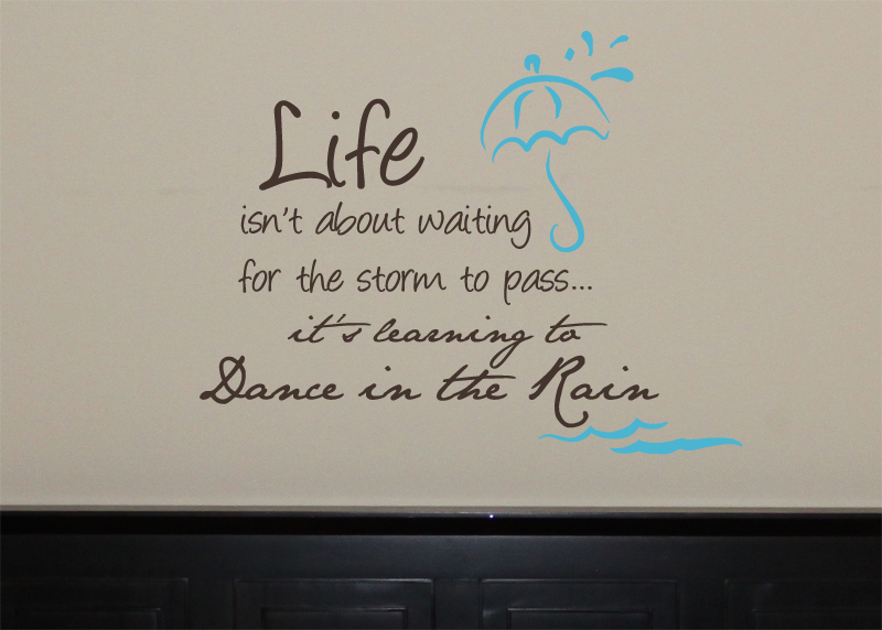 Dance in the Rain Wall Decal