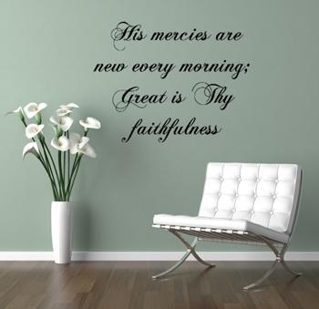 His Mercies Wall Decals