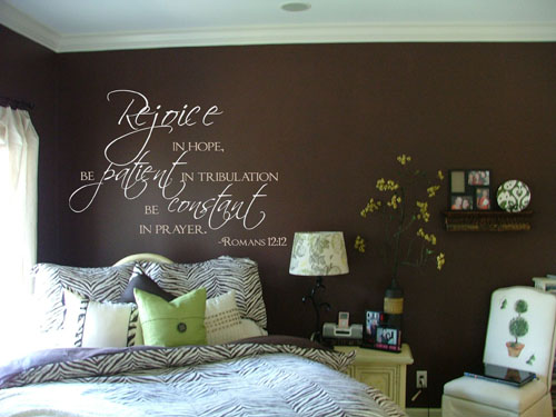 Rejoice in Hope Scripture Wall Decals