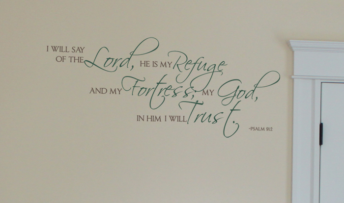 The Lord Refuge Wall Decals