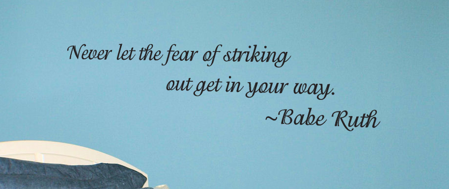 Striking Out Wall Decal