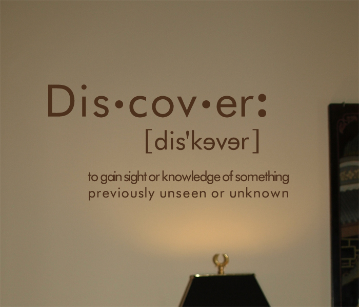 Discover Definition Wall Decal Trading Phrases