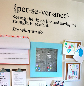 Perserverance Definition Wall Decal