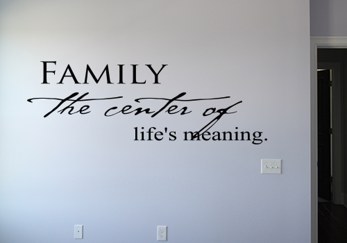 Family Center Life's Meaning Wall Decal