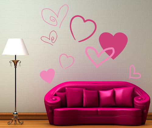 Heart Pack Wall Decal