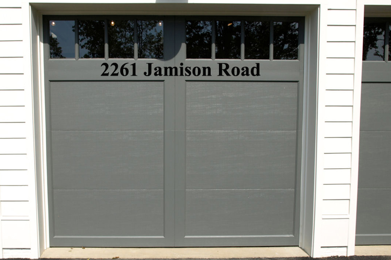 Street Address Wall Decal