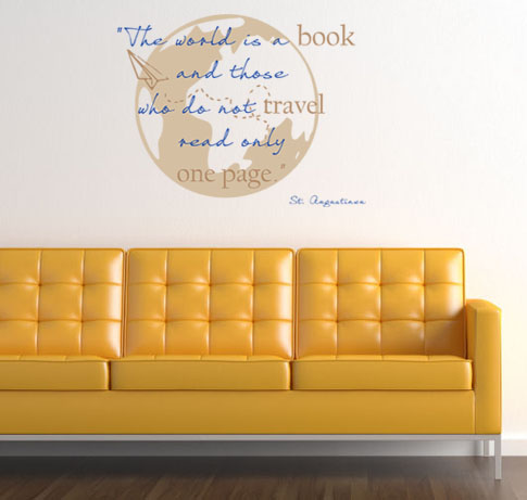 World Book Travel Wall Decal