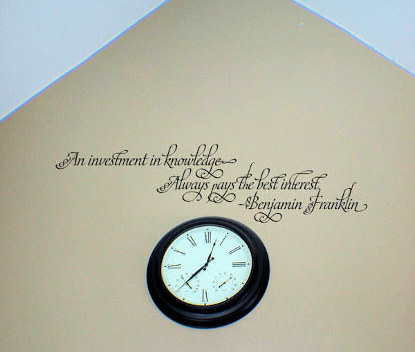 Investment in Knowledge Wall Decal