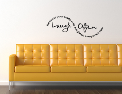 Laugh Often | Wall Decals