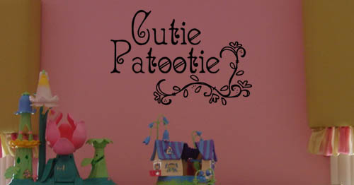 Cutie Patootie Wall Decal