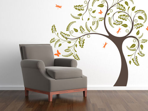 Dragonfly Tree Giant Wall Decal