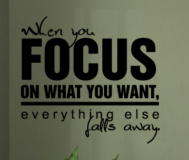 Focus on What You Want Wall Decals