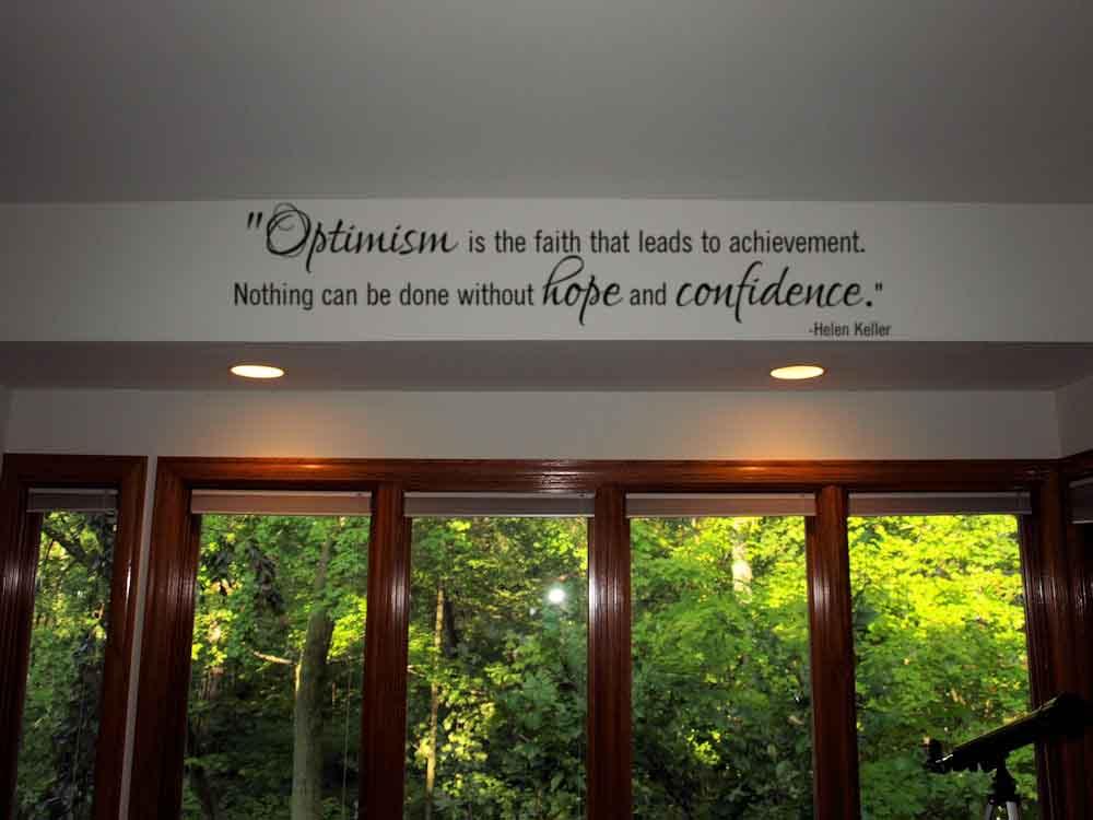 Optimism Is Faith Confidence Wall Decal