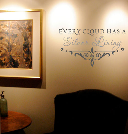 Every Cloud Silver Lining Wall Decal