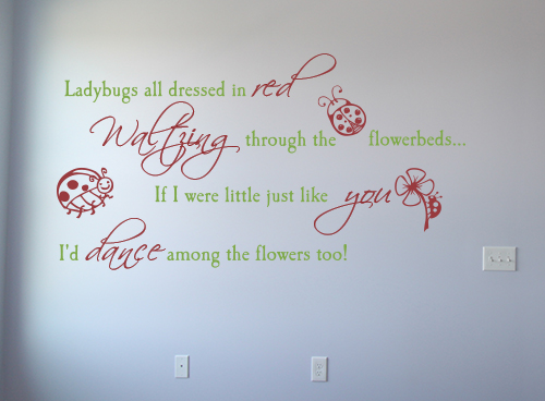 Ladybugs All Dressed In Red Wall Decals