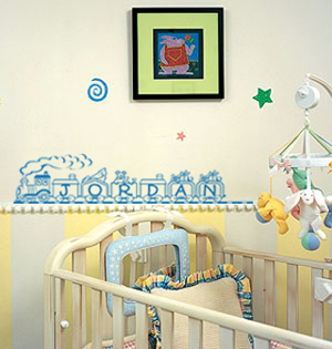 Toy Train Name Wall Decal