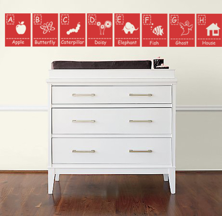 Picture Alphabet Wall Decal