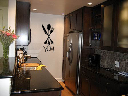 Utensils Yum Wall Decal