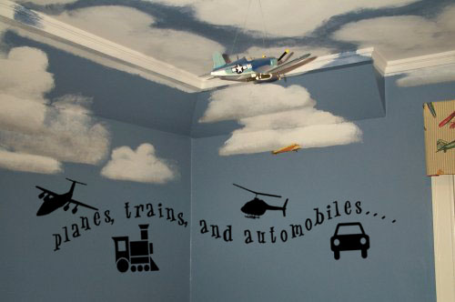 Planes, Trains, & Automobiles! Wall Decal