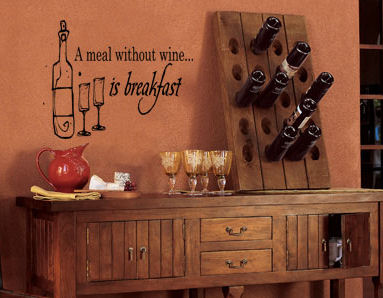 Meal Without Wine Wall Decal